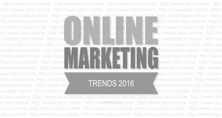 Online-Marketing Trends 2016