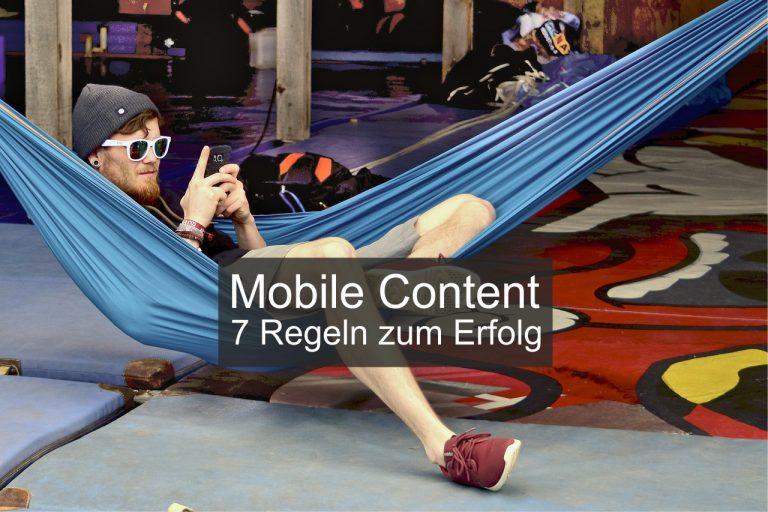 Mobile Content – 7 Regeln zum Erfolg