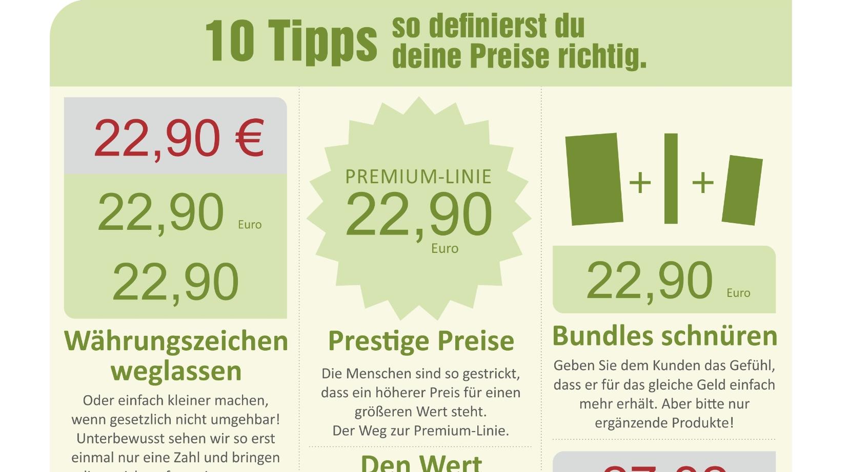 You are currently viewing 10 Tipps – So erstellst du deine Preise richtig!