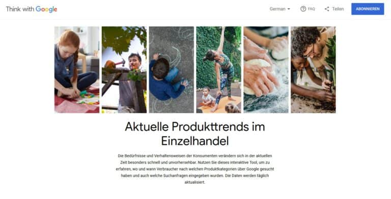 Think with Google – Aktuelle Produkttrends im Einzelhandel